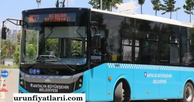 antalya belediye otobüs ücretleri 2020